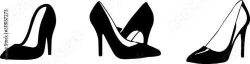 Obraz woman shoes icon isolated on white background - fototapety do salonu