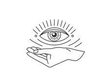 Hand With All-seeing Eye Desig...