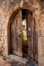 Arched Door To The Courtyard O...