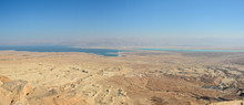 Panorama Of The Judean Desert And The Dead Sea.