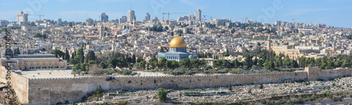 Temple Mount and the Old City in Jerusalem.