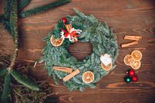 Christmas Winter Wreath Decora...