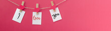 I Love You - Clothes Pegs With...