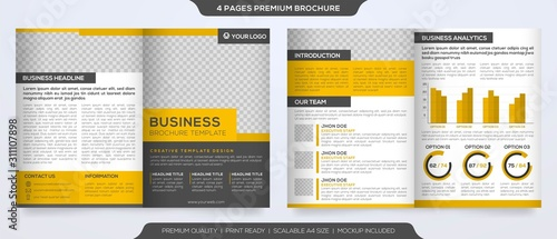 set of business brochure template design with abstract concept and minimalist la Wallpaper Mural
