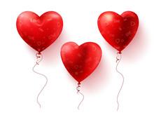 Heart Balloons Vector Element ...