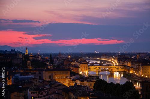 Fototapeta Ponte Vecchio, Florenz, Italien obraz na płótnie