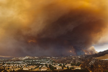 California Wildfire Threatening A Residential Area
