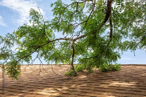 roof damage Obraz na płótnie
