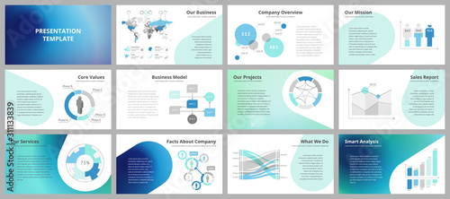 Obraz Business presentation templates - fototapety do salonu