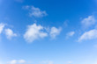 Beautiful form of white fluffy clouds on vivid blue sky in a suny day
