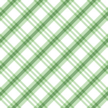 Checkered Green And White Check Pattern Background,vector Illustration,Gingham