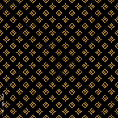 Valokuvatapetti Black and Golden rick tiny rhombuses background pattern