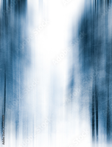 Winter season abstract nature art print and Christmas landscape holiday background, snowy magical forest as luxury brand postcard design backdrop - 311154689
