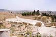 Ovale Piazza, forum in the ancient roman city of Gerasa in Jerash, Jordan.