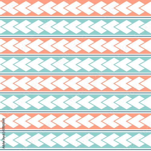 vector-ethnic-boho-seamless-pattern-in-maori-style-geometric-border-with-decorative-ethnic-elements-pastel-colors-horizontal-pattern