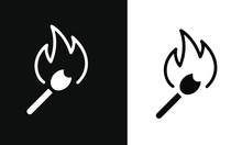 Grilling Icon Vector Design Black And White