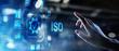 Leinwandbild Motiv ISO standards quality control assurance warranty business technology concept.