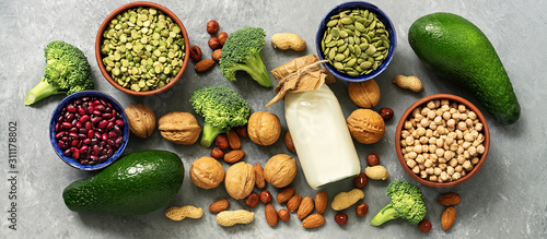 Cuadros en Lienzo  Vegan protein source,banner