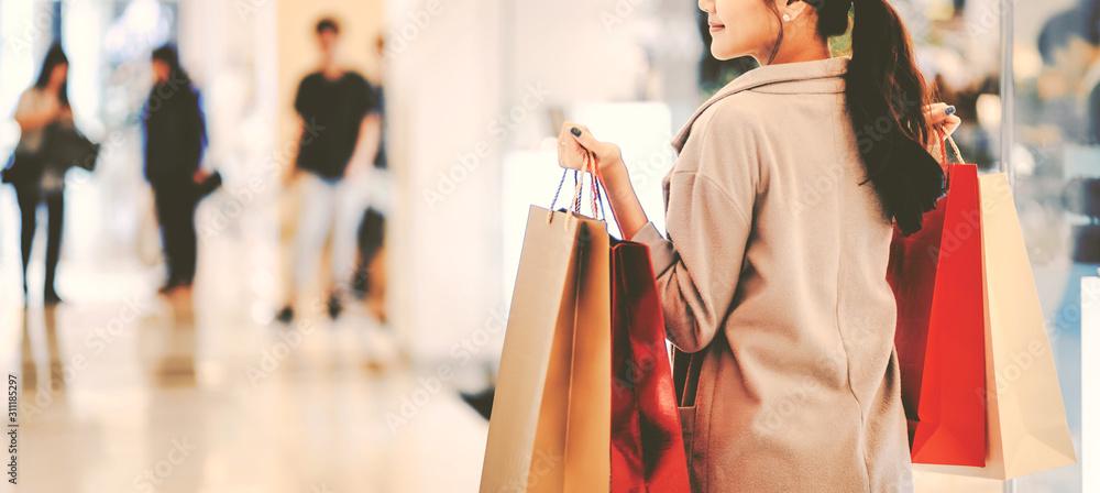 Fototapeta Shopping woman