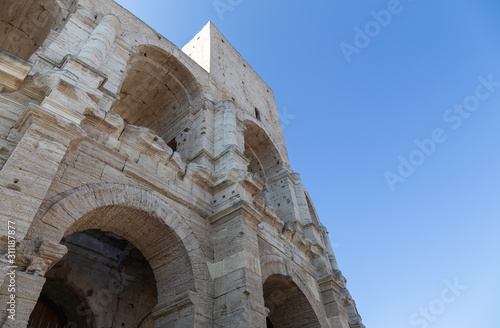 Close up of Arles Amphitheatre in Provence with copy space Wallpaper Mural