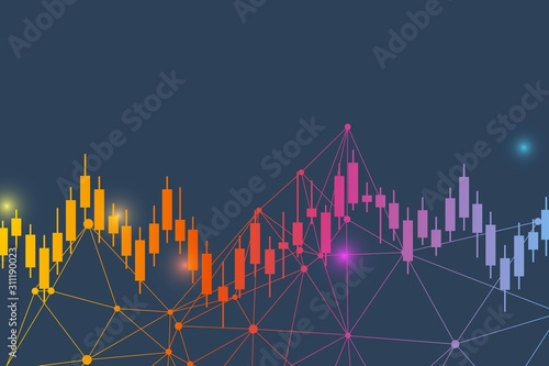 Obraz Stock market or forex trading graph. Chart in financial market vector illustration Abstract finance background. - fototapety do salonu
