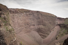 Crater Of Mount Vesuvius In It...