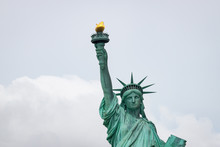 Head And Shoulders Of The Statue Of Liberty In New York