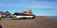 RNLI Life Boat Launch On The Beach