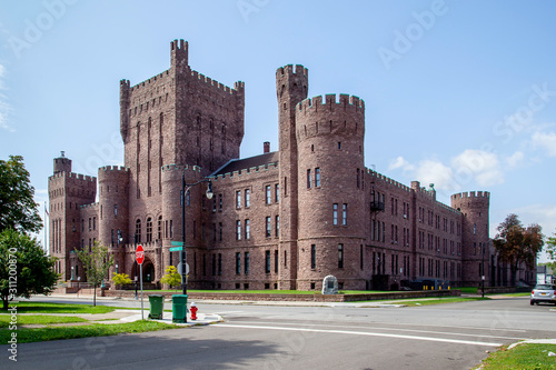 Photo Buffalo, New York, USA -September 2, 2019: The Connecticut Street Armory in Buffalo, New York, USA