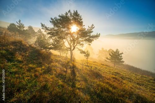 Wschód Słońca góry