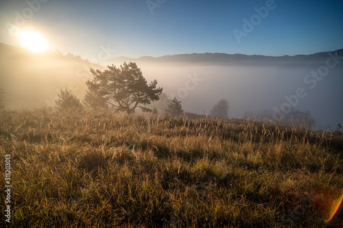 Wschód słońca - Pieniny
