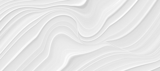 Abstract grey white waves and lines pattern. Futuristic template background.