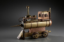 Steampunk Object Steel Train W...