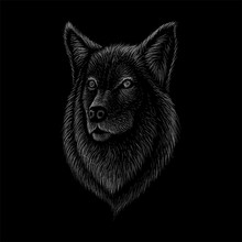 The Vector Logo Dog  Or Wolf  ...
