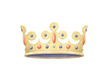 Crown. Hand Painted Illustration.