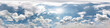 Leinwandbild Motiv blue sky with beautiful clouds in sunny day. Seamless hdri panorama 360 degrees angle view with zenith for use in 3d graphics or game development as sky dome or edit drone shot