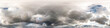 Leinwandbild Motiv blue sky with beautiful clouds before storm. Seamless hdri panorama 360 degrees angle view with zenith for use in 3d graphics or game development as sky dome or edit drone shot