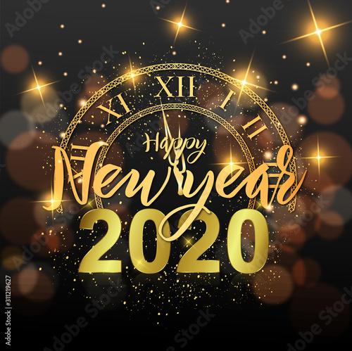 Fototapeta  Passage de la nouvel année - happy new year 2020