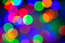 Abstract Multi Colored Lights. Unfocused Light Background. Blured Christmas Light. Blur Concept.