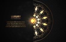 Luxury Black Background With M...