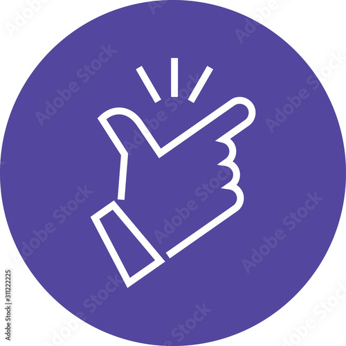 Foto Fingers Snapping Hand Gesture Outline Icon
