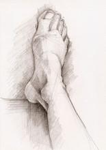Sketch Of Foot