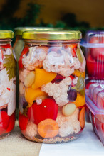Homemade Mixed Pickles Jars Of...
