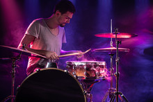 The Drummer Plays The Drums. B...