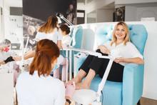 Two Women On Pedicure Procedur...