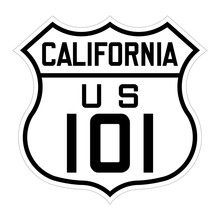 California Us Route 101 Sign