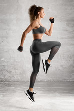 Fitness Woman Jumping Workout....