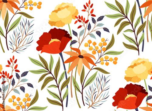 Obraz maki   seamless-pattern-with-poppies-flowers