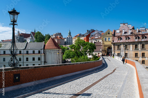 Fototapety, obrazy: Street leading into the Old Town of Lublin, Poland