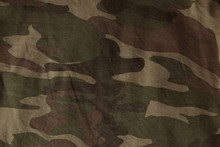 Closeup Of Military Uniform Surface. Texture Of Fabric, Close-up, Military Coloring